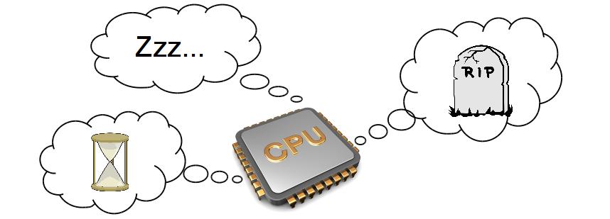 Что делает центральный процессор, когда ему нечего делать - 1