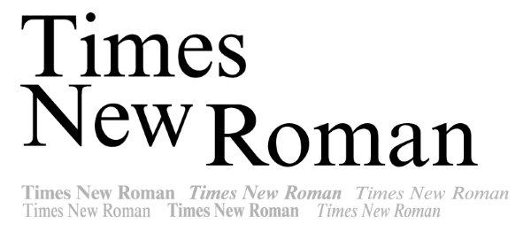 Шрифт Times New Roman в России могут заменить на отечественный вариант