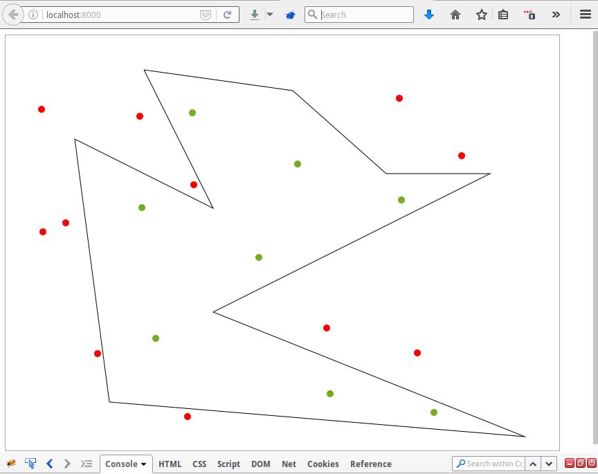 Тестовое задание. Проверка вхождения точки в произвольный полигон - 1