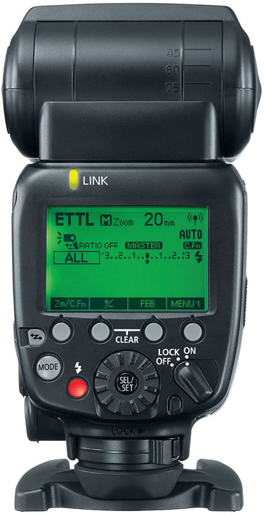 Вспышка Canon Speedlite 600EX II-RT поддерживает управление по радиоканалу