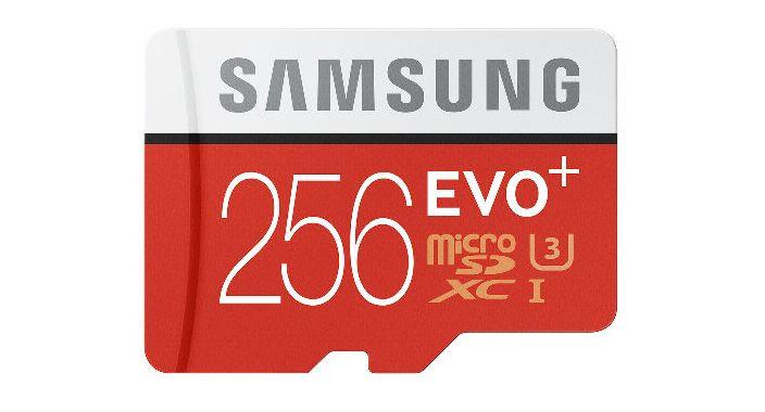 Samsung представила карту microSD Evo Plus объёмом 256 ГБ