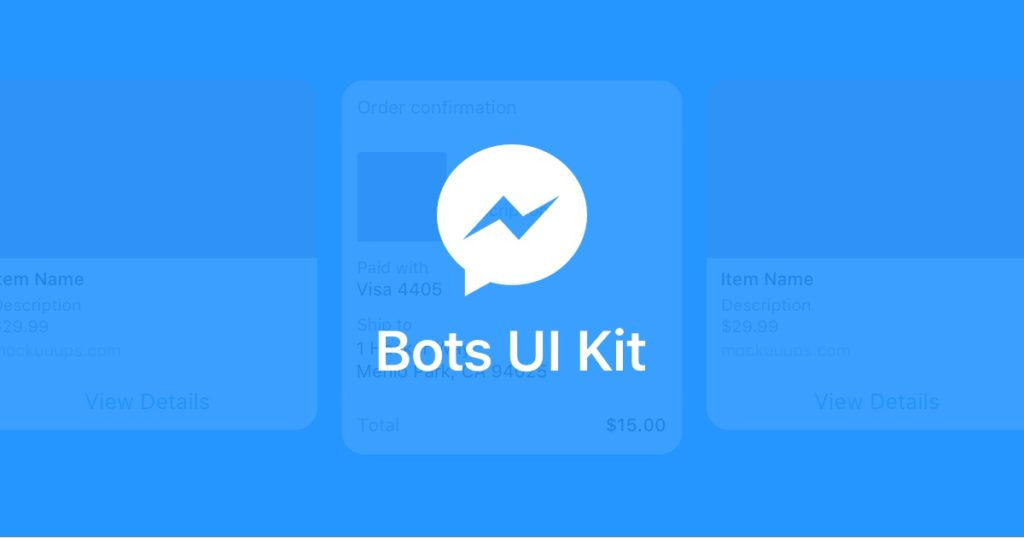 Bots UI kit for Messenger Platform