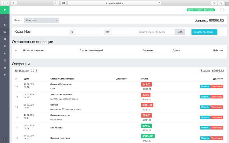 RGlobal — система автоматизации сети ресторанов «Рецептор» - 5