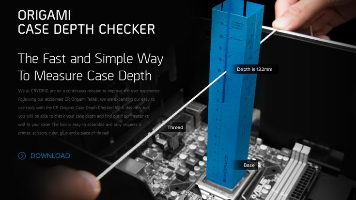 Линейка Cryorig Origami Case Depth Checker позволяет оценить глубину корпуса ПК