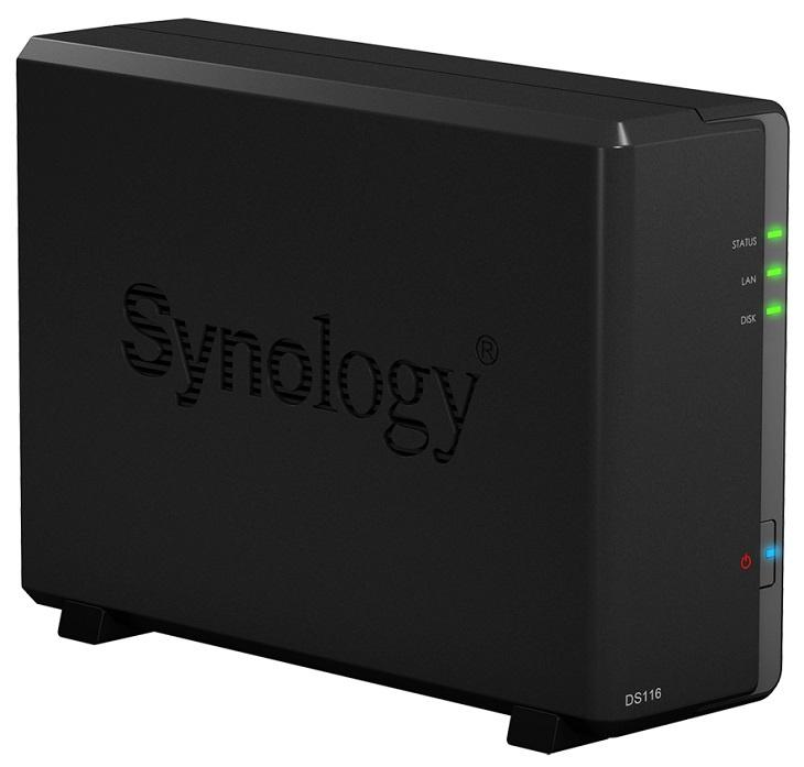 NAS Synology DS116 оснащается SOC с поддержкой аппаратного шифрования