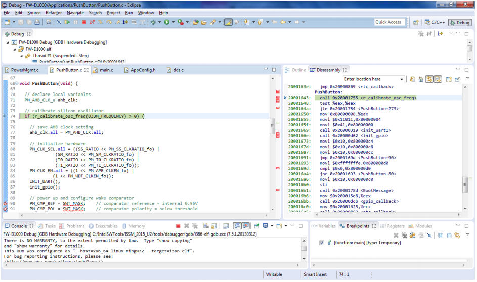 Intel System Studio for Microcontrollers 2015: подробности о разработке и отладке - 7