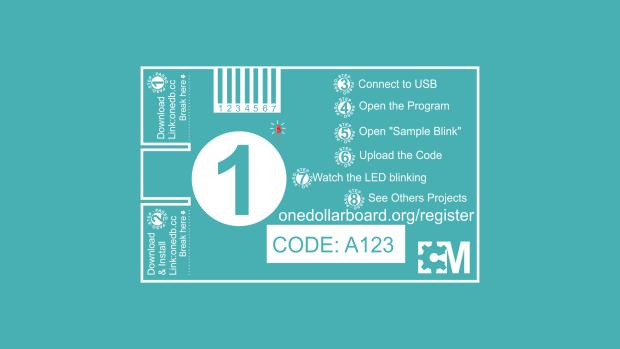 One Dollar Board: плата стоимостью в $1 для обучения детей и подростков основам электроники и программирования - 2