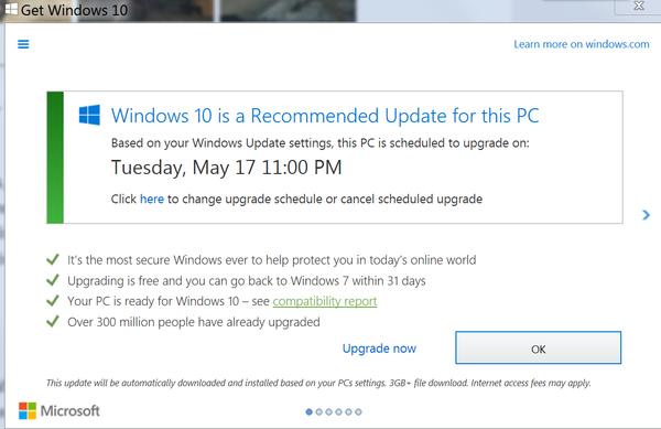 Microsoft по-партизански настраивает ПК пользователей на автоматическое обновление до Windows 10 - 2