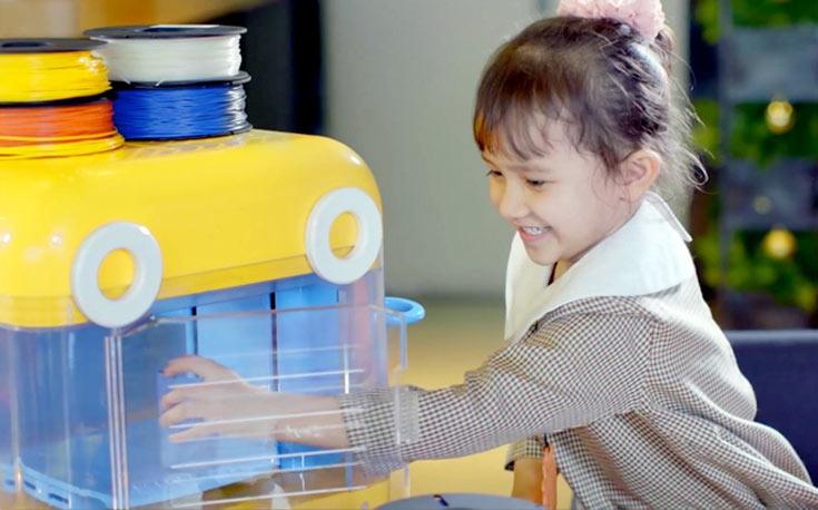 Размеры 3D-принтера MiniToy 3D Printer равны 473 х 305 х 375 мм