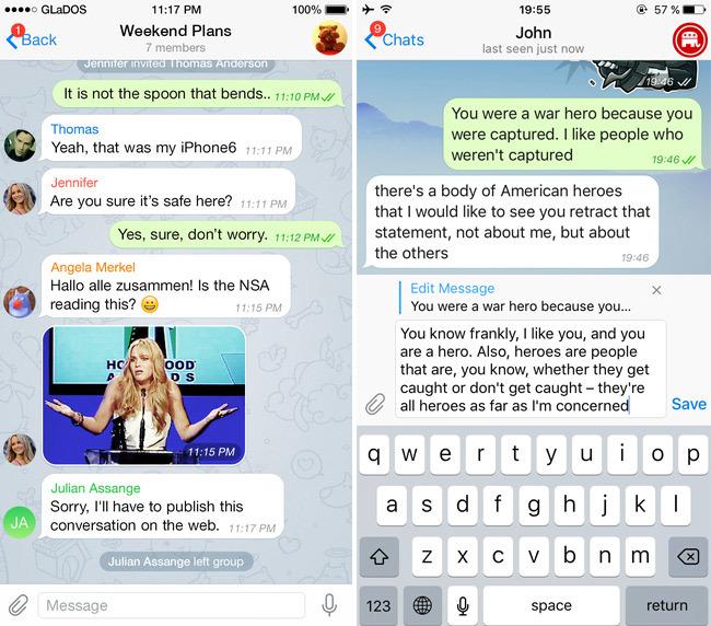 В Telegram теперь можно изменять сообщения после отправки - 1