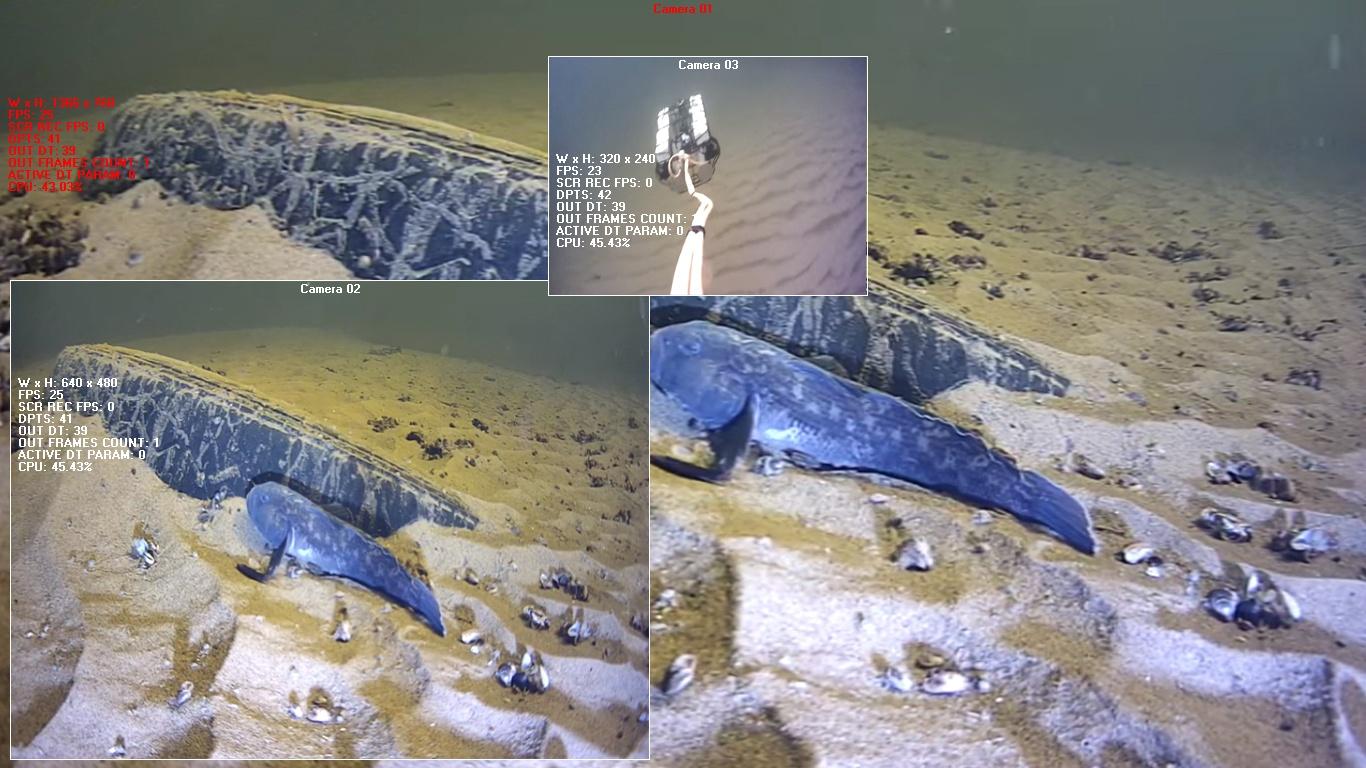 Передача видео с глубоководного робота - 4