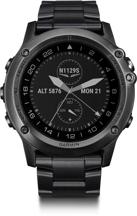 В браслете часов Garmin D2 Bravo Titanium используется титан