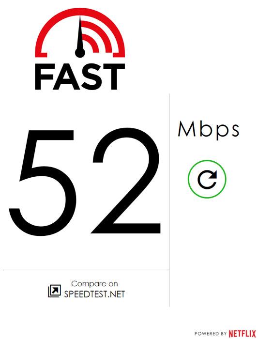 Сайт Fast.com работает как с ПК, так и с мобильными устройствами