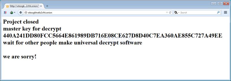 Создатели трояна-шифровальщика TeslaCrypt закрыли проект и опубликовали master-ключ для разблокировки - 2