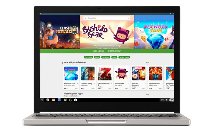 В Chrome OS появится Play Store