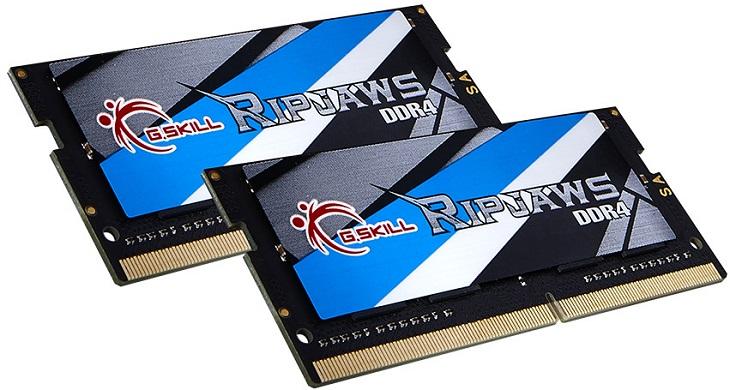 Модули G.Skill SO-DIMM DDR4 набраны в комплекты объемом 16 и 32 ГБ
