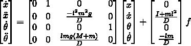 Разжёвываем линейно-квадратичный регулятор для управления перевёрнутым маятником - 18