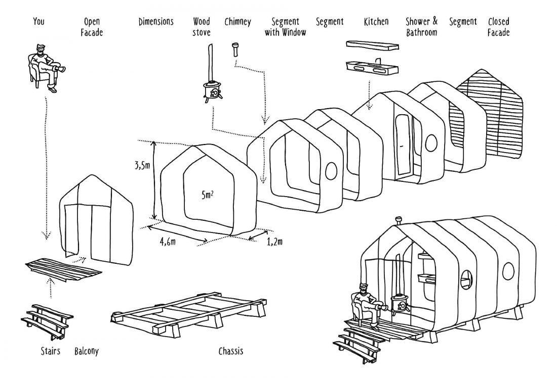 24-слойный картонный дом собирается за 1 день, выдержит минимум 50 лет - 3