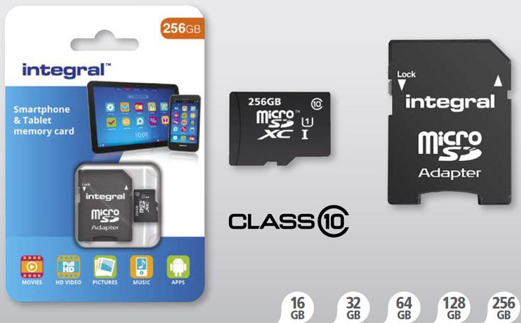 Карты памяти microSDXC объемом 256 ГБ предназначены для мобильных устройств