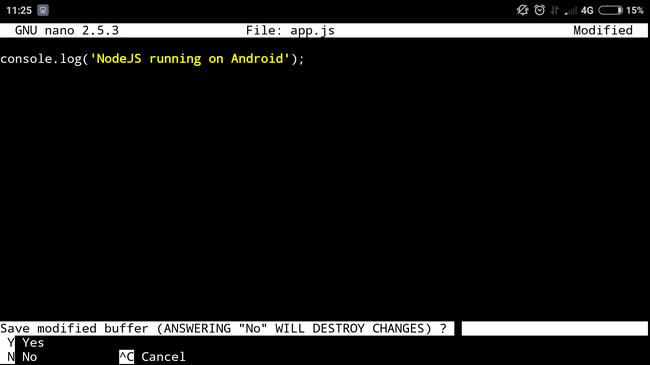 Запуск NodeJS-приложения на Android - 5