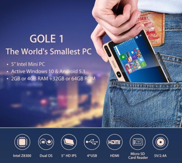 Гибридный ПК Gole1 стоит 100 долларов