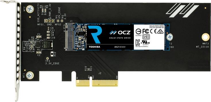 Твердотельные накопители OCZ RD400 NVMe предназначены для игровых ПК