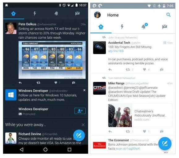 Мобильная версия Twitter получит ночной пользовательский интерфейс