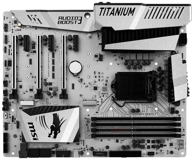 Системная плата MSI Z170A MPower Gaming Titanium позволяет подключить три видеокарты