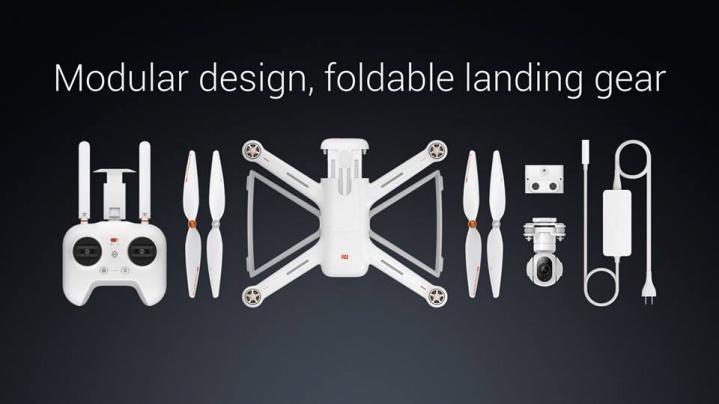 Xiaomi представила свой первый мультикоптер: 4К-камера, 27 минут полёта - 5