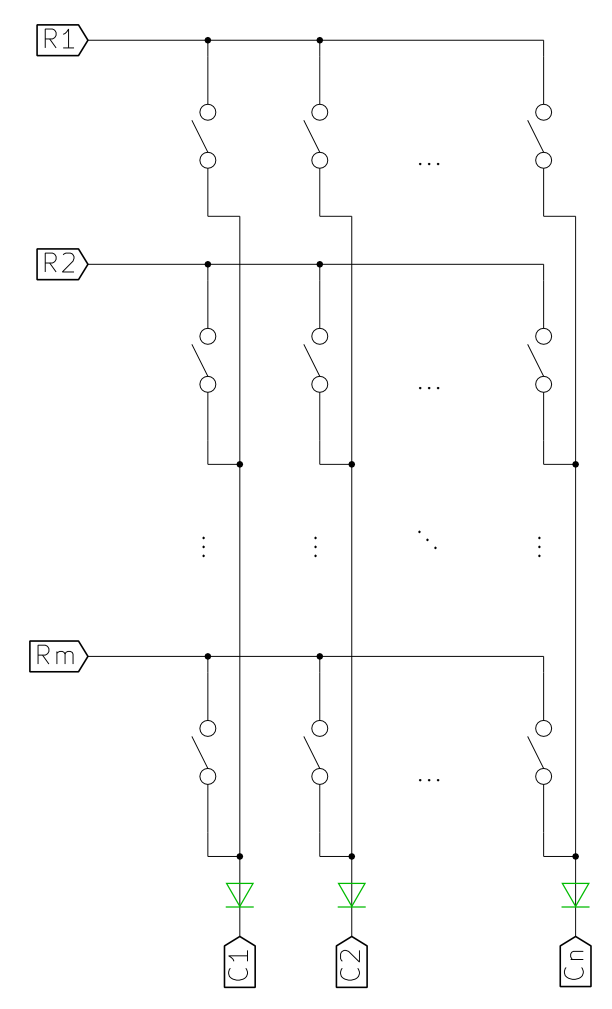 Как сделать клавиатуру — Матрица - 4