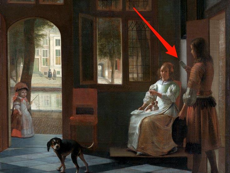 Автором картины «Письмо» является голландский художник Питер де Хох