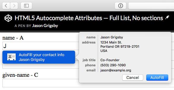 Autofill: чего не знают веб-разработчики, хотя должны знать - 4