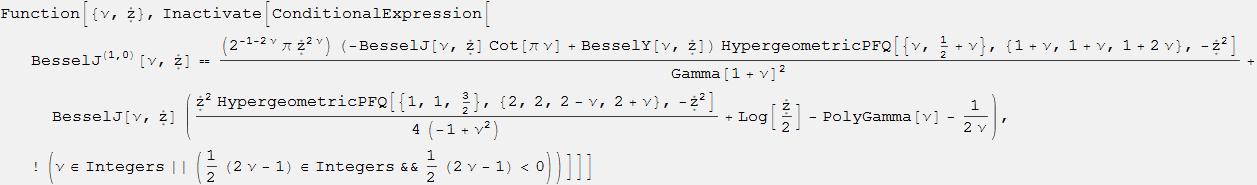 Новые производные функций Бесселя выведены с помощью языка Wolfram Language - 70