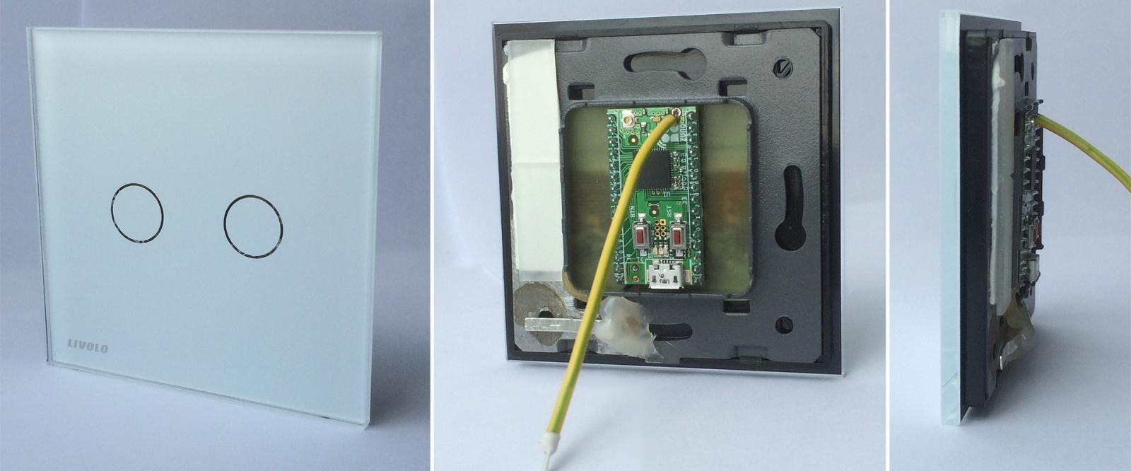 Сенсорный радио выключатель на батарейках. Livolo + Z-Uno - 1