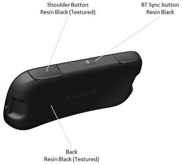 Контроллер для гарнитуры Samsung Gear VR оснащен аналоговым джойстиком и шестью кнопками