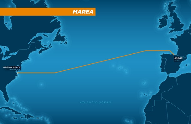 Кабель длиной 6600 км впервые соединит США с югом Европы