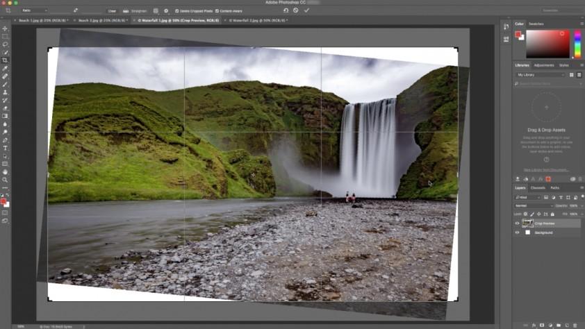 Photoshop CC научился красиво исправлять заваленный горизонт - 1