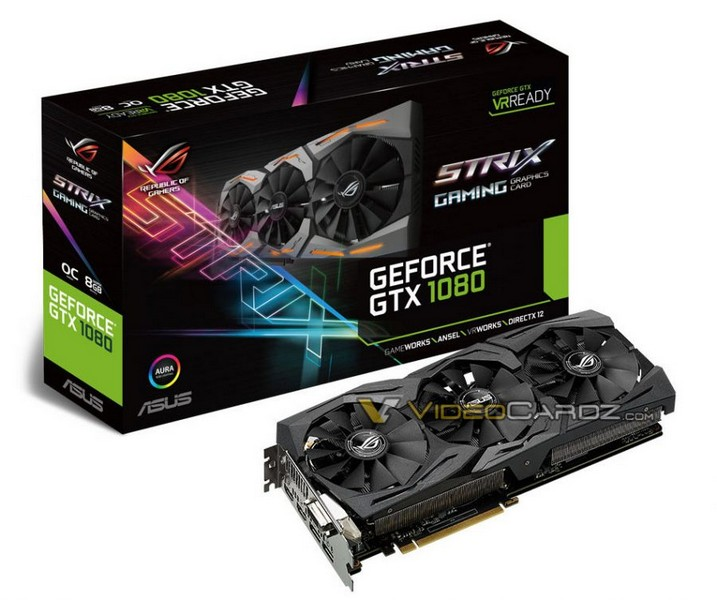 Появились изображения нереференсных видеокарт GeForce GTX 1080