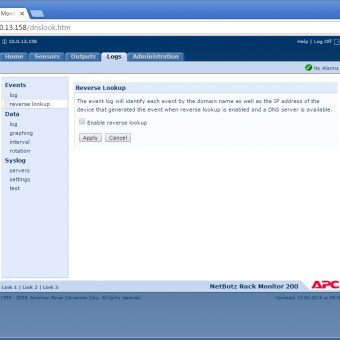 Сравнение систем мониторинга Vutlan SC8100 и APC NetBotz Rack Monitor 200 - 13