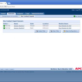 Сравнение систем мониторинга Vutlan SC8100 и APC NetBotz Rack Monitor 200 - 18