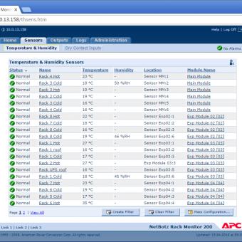 Сравнение систем мониторинга Vutlan SC8100 и APC NetBotz Rack Monitor 200 - 19