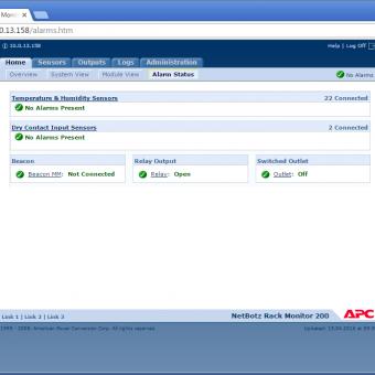 Сравнение систем мониторинга Vutlan SC8100 и APC NetBotz Rack Monitor 200 - 20