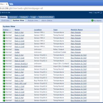 Сравнение систем мониторинга Vutlan SC8100 и APC NetBotz Rack Monitor 200 - 22