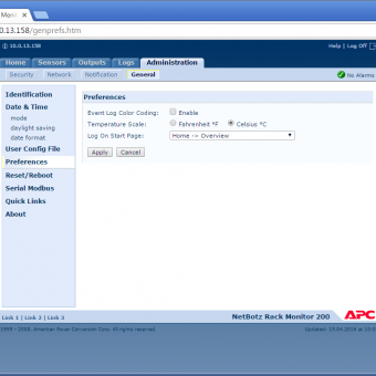 Сравнение систем мониторинга Vutlan SC8100 и APC NetBotz Rack Monitor 200 - 24