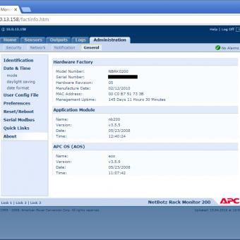 Сравнение систем мониторинга Vutlan SC8100 и APC NetBotz Rack Monitor 200 - 26
