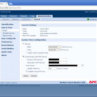 Сравнение систем мониторинга Vutlan SC8100 и APC NetBotz Rack Monitor 200 - 27
