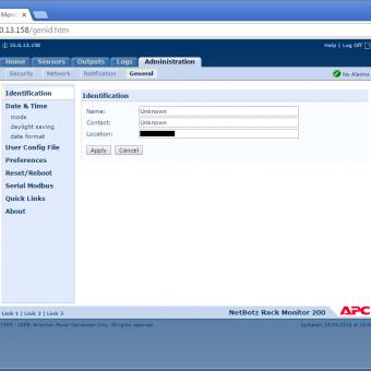 Сравнение систем мониторинга Vutlan SC8100 и APC NetBotz Rack Monitor 200 - 28