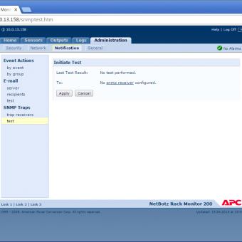 Сравнение систем мониторинга Vutlan SC8100 и APC NetBotz Rack Monitor 200 - 29