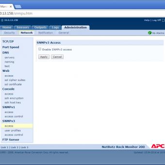 Сравнение систем мониторинга Vutlan SC8100 и APC NetBotz Rack Monitor 200 - 32