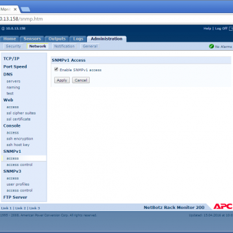 Сравнение систем мониторинга Vutlan SC8100 и APC NetBotz Rack Monitor 200 - 33